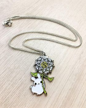 Dandelion Puddle Bunny Necklace by celesse