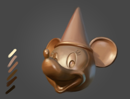 Bronze Study - Minnie Mouse by luxandnox