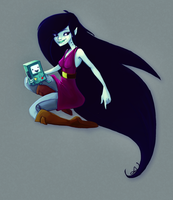 Marceline and BMO Chillin by relsgrotto