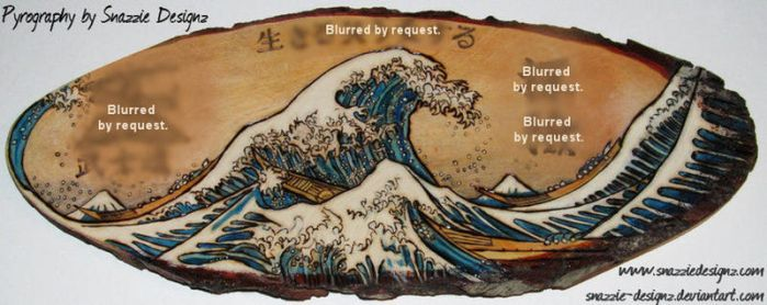 Wave Pyrograph (Woodburning) by snazzie-designz