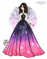 Galaxies Dress by angelaaasketches