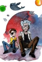 evil Rick and Morty - another sketch by Yussik-yuu