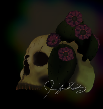 Skull and Cactus by JShipArts