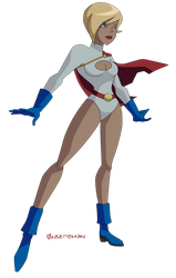 JLU: Power Girl (again) by Glee-chan