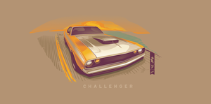 Dodge Challenger Vector by depot-hdm