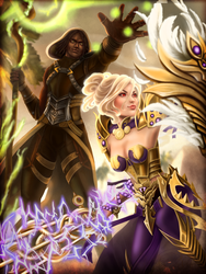 Guaraha and Rheya by Vanaliel