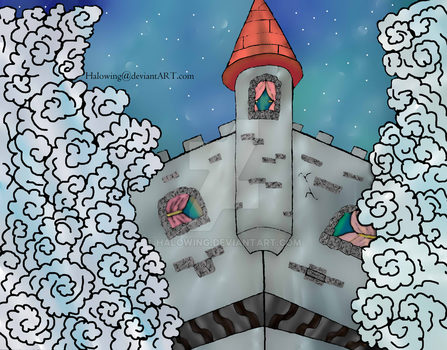 Castle in the Dream Sky by Halowing