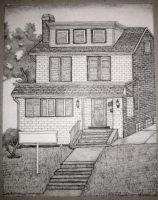Stippling House Pen and Ink Commision Photo by JesseAllshouse