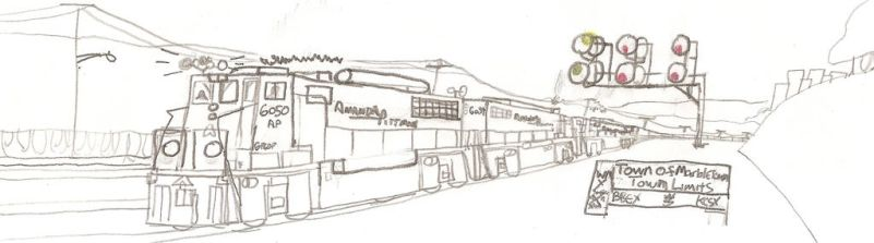 Amanda-Pittman Railroad Co GP60P #6050 by Tracksidegorilla1