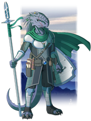 DnD - Vynsayknos, Dragonborn Fighter by Spritedude