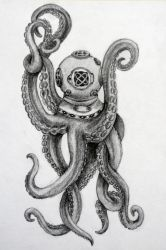 Octopus diver by BarboraT