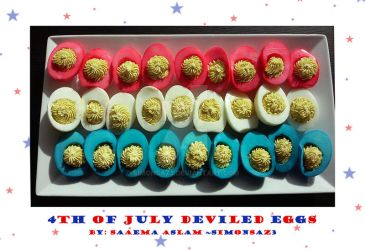 Snack: 4th of July Deviled Eggs by simonsaz3