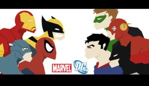 Marvel VS D.C by razorface123