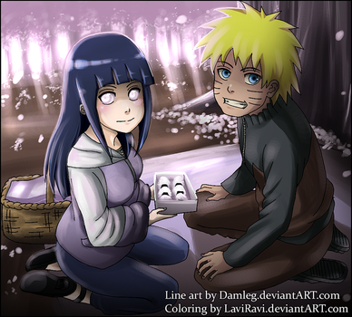 NaruHina-Onigiri Time- COLLAB by Damleg