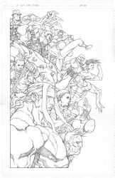 Street Fighter 25th anniversary tribute pencils by NgBoy