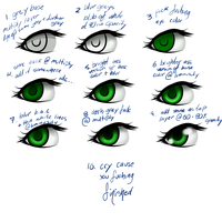 Coloring Eyes with Koji by k-o-j-i