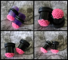 Handmade Dahlia Plugs by LadyStarrlight