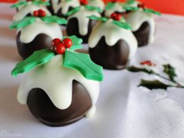 12 Days of Christmas :: 12 Pudding Truffles by cakecrumbs