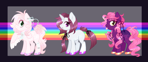 OPEN POINT AUCTION - Holo Maned Ponies by Arxielle