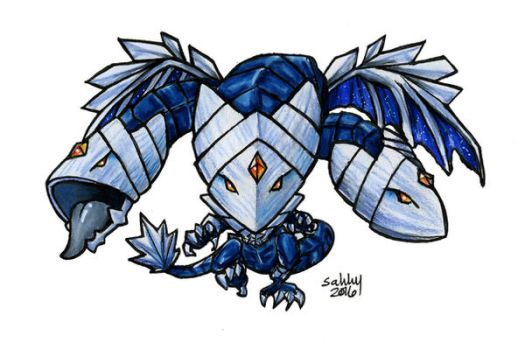 Trishula, Dragon of the Ice Barrier - Yu-Gi-Oh! by sakkysa