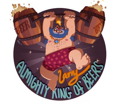 Larry the Almighty King of Beers by McIdea