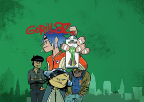 Gorillaz Wallpaper by Blekwave