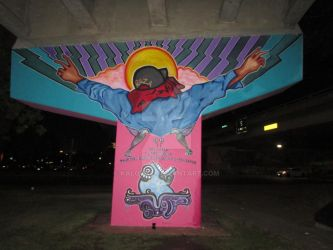 Omenaje Mural at Chicano Park by KaloOne