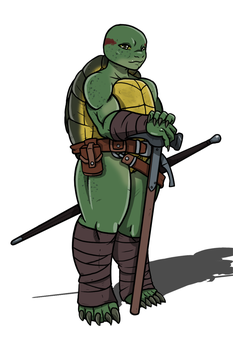 Emys - Tortle Paladin by CandyKappa