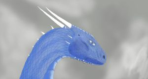 Saphira Portrait by Dragon-Soul117