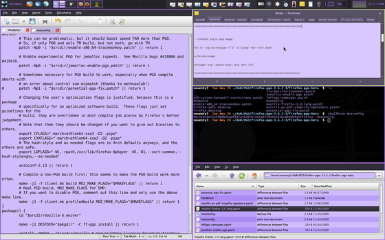 xfce4 using xmonad - thunar by crimesaucer