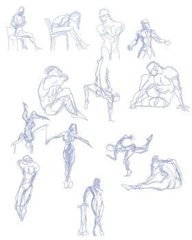 Quickposes figures 7 by SuikTwoPointOh