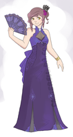 Violet Gown Adopt Auction (paypal)[closed] by Canterell