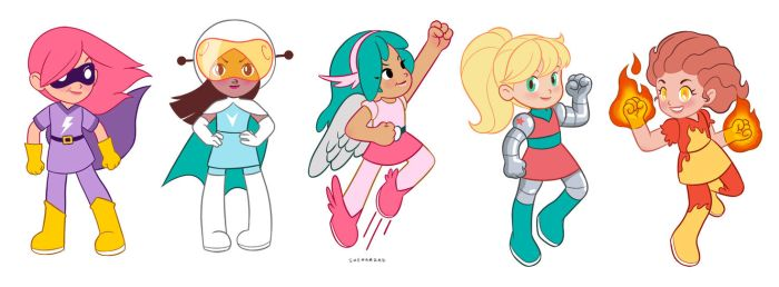 Super-heroines concept by Sheharzad-Arshad