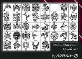 Native American brush set by noema-13