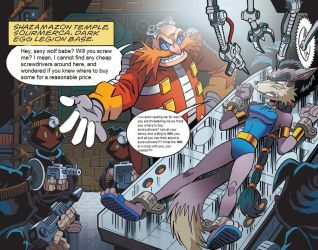 Eggman is married to his work. by william023