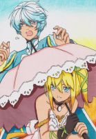 Mikleo and Edna by ClaireRoses
