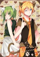 Gumi and Len: WonderfulCatLife by SquChan