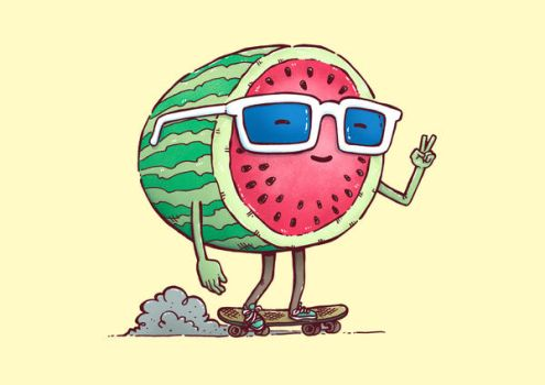 Watermelon Skater by nickv47