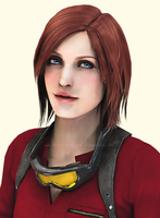 Claire Redfield portrait by VickyxRedfield