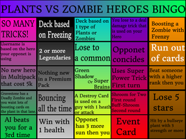 Plants Vs Zombies Heroes Bingo by magolorandmarx
