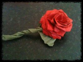 Origami Rose - Attempt 1 by MrChrizpy