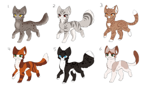 -Cat adoptables- OPEN by FancyCookiejar