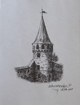 Tower liner drawing by NaumenkoO