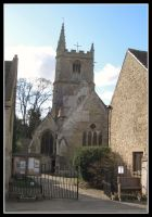 St Andrews Church Castle Combe by Lunapic