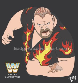 WWE Fallen Superstars: Bam Bam Bigelow by EadgeArt