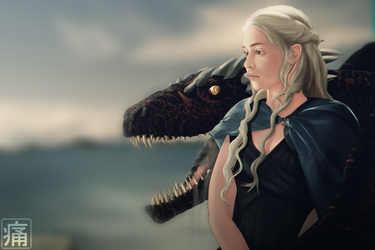 daenerys and drogon by Dhako889