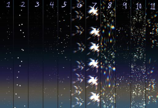 Glitter/star brushes for clip studio paint by 23i2ko