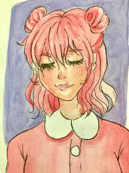 Pastely Pink Gal~ (Watercolor) by SnickerDoodlezStudio