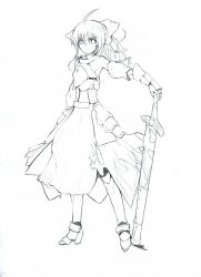 Saber Lily Line Art by nz13590