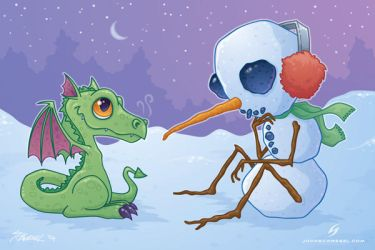 the snowman and the dragon by fizzgig